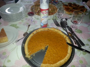 Even in France, pumpkin pie is a necessity