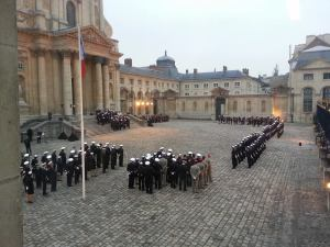 The view from my classroom during a military funeral