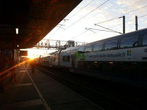 The SNCF train to Paris