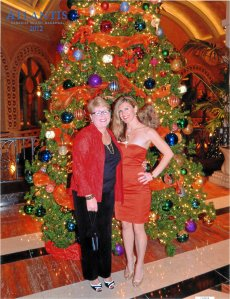 My Mom and I at Atlantis Resort in the Bahamas on Christmas Eve 2012