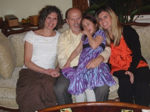 My Dad, Don, my Stepmom, Leslie and my sister, Augusta Rose the year of recovery on Thanksgiving in Colorado