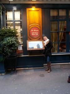 In front of historic Le Procope
