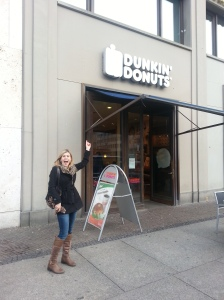 One of my many finds of Dunkin Donuts in Berlin, Germany