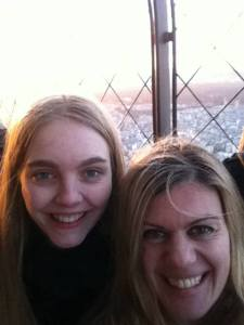 "Proof! Our necessary ""selfie"" from the top of the Eiffel Tower"