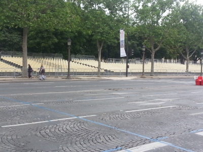 Seats are Ready for the Tour de France 2014 on July 27th in Champs-Elysees